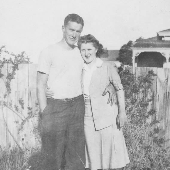Photo of a young Keith and Bronwen Dunbar