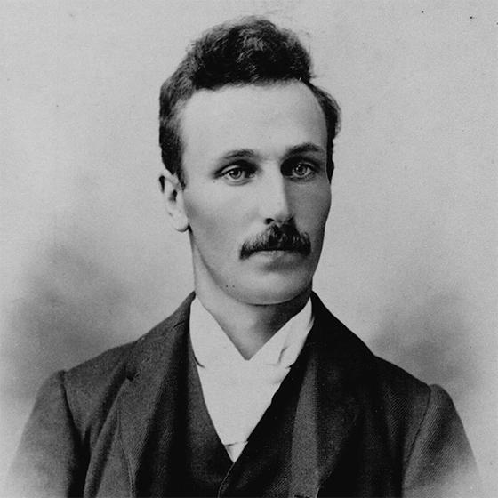 Black and white photo of Thomas Ferguson
