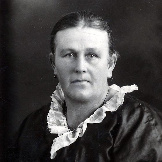 Black & white portrait of Mary Ann Turner